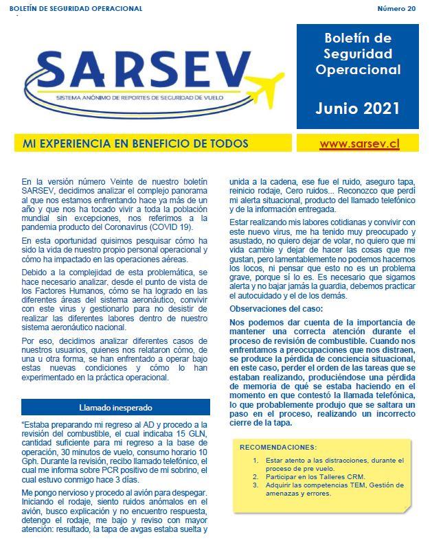 Boletín SARSEV Número 20